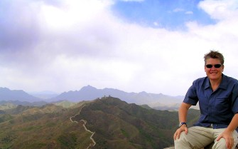 On top of the Great Wall of China