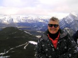 On top of Mt Norquay, Canada
