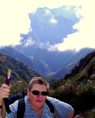High on top of Peru in the Andes