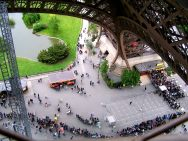 Q is for the queues waiting to climb the Eiffel Tower