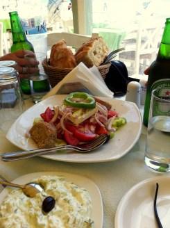 Greek Salad & Tzattziki