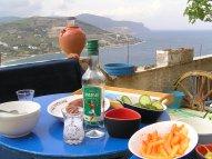 Lunch overlooking the ocean
