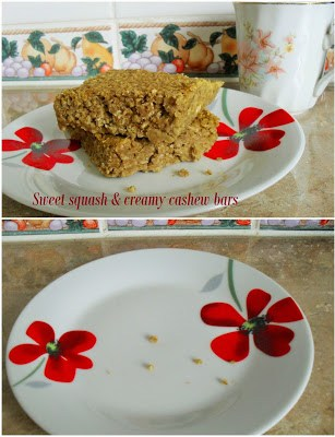Sweet squash & creamy cashew butter flapjacks Breakfast Lunch snack vegan