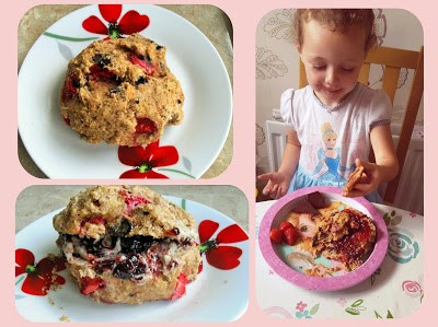 Chocolate, orange zest & strawberry spelt scones Breakfast Lunch snack