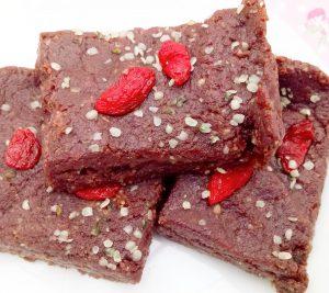 "Fudgey flourless peanut butter ""hemp""tation brownies Desserts snack vegan"