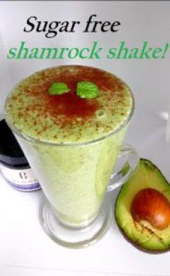 Sugar free shamrock shake Breakfast Desserts Grainfree vegan