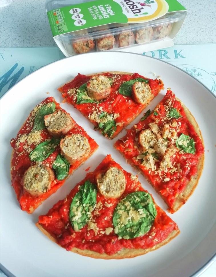 Chickpea flour pizza Dinner Grainfree Lunch vegan