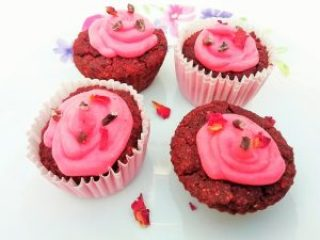 Red velvet plant based cupcakes Desserts snack vegan