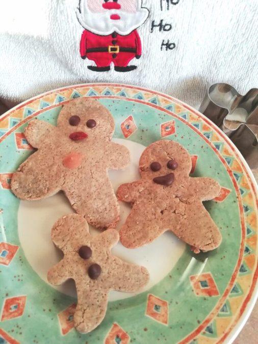 Healthier high fiber gingerbread cookies Desserts snack vegan