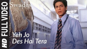 This is One of the Shahrukh Khan's Most Inspirational Song - 'Yeh Jo Des Hai Tera' with free lyrics