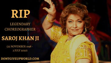 This image contains the link of the Video of Legendary Bollywood choreographer Saroj Khan Who passed away on July 3, shares her inspirational Journey with Sridevi.