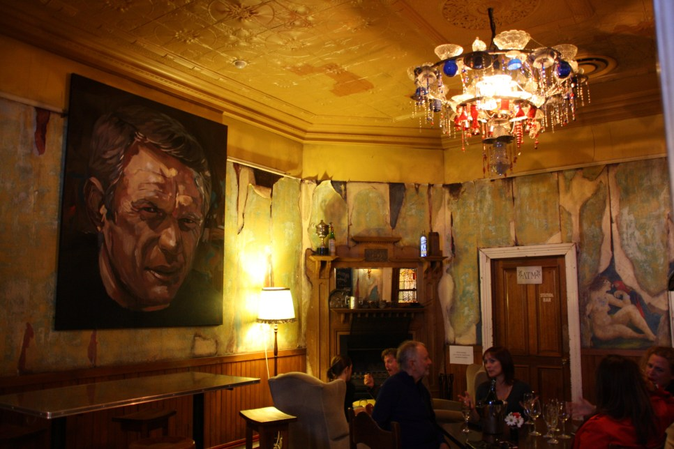 The Steve McQueen portrait hanging in the saloon bar of The Colonist Tavern on The Parade in Norwood.
