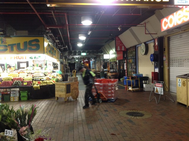 Early morning at Adelaide's Central Markets.