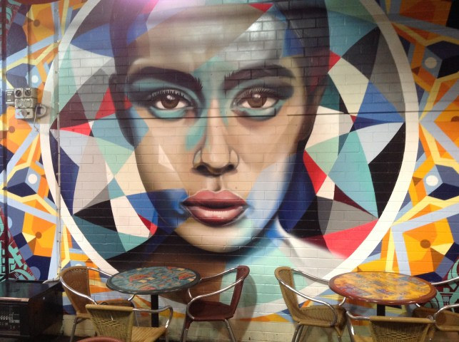 Street art at Adelaide's Central Markets.