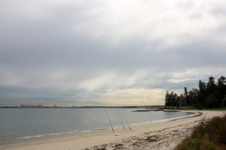 The southern shore of Botany Bay, looking towards Capt Cook's landing site with La Perouse on the northern shore.