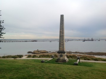 Monument to the landing of Capt James Cook at Botany Bay in 1770.