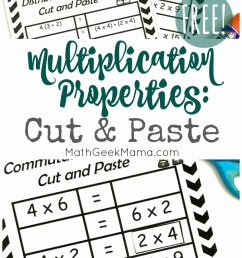 3rd Grade Commutative Property Of Multiplication Worksheets Inspirational  Free Properties Of Multiplication Cut \u0026 Paste Practice – Printable Math  Worksheets [ 1455 x 800 Pixel ]