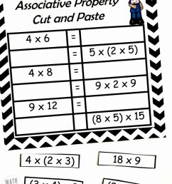 3rd Grade Commutative Property Of Multiplication Worksheets top Free  Properties Of Multiplication Cut \u0026 Paste Practice – Printable Math  Worksheets [ 989 x 800 Pixel ]