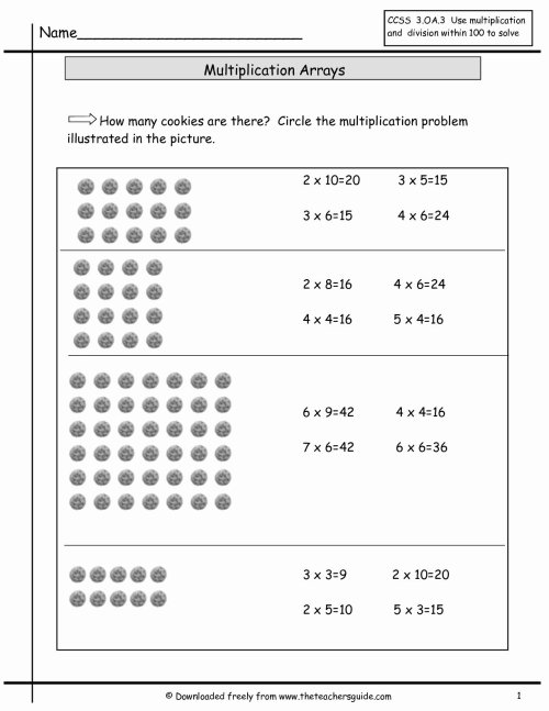 small resolution of Arrays In Multiplication Worksheets   Printable Math Worksheets