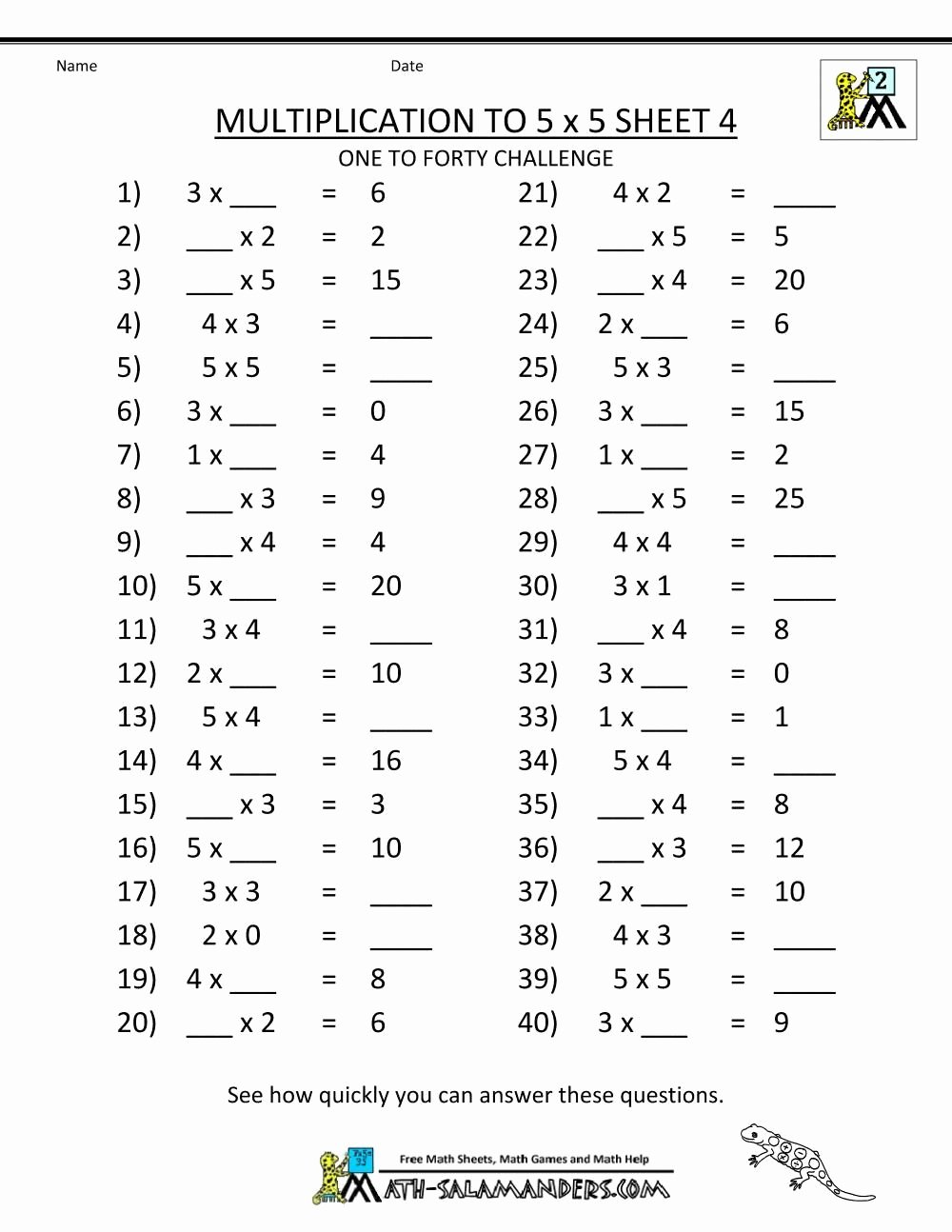 medium resolution of Free Multiplication Worksheets for Grade 3   Printable Math Worksheets