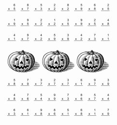Halloween Multiplication Worksheets Inspirational All Operations  Multiplication Facts to 81 A – Printable Math Worksheets [ 1100 x 850 Pixel ]