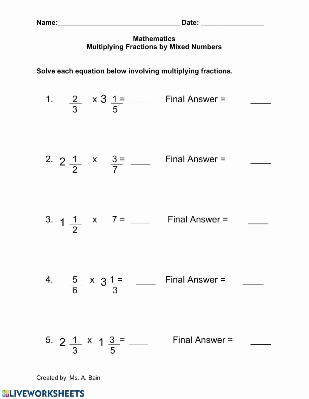 medium resolution of Mixed Fraction Multiplication Worksheets Best Of Fraction Multiplication  with Cancelling Mixed Review Math – Printable Math Worksheets
