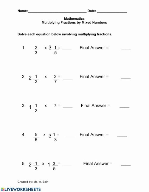 small resolution of Mixed Fraction Multiplication Worksheets Best Of Fraction Multiplication  with Cancelling Mixed Review Math – Printable Math Worksheets