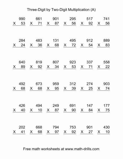 small resolution of Multiple Digit Multiplication Worksheets top Multi Digit Multiplication –  Printable Math Worksheets