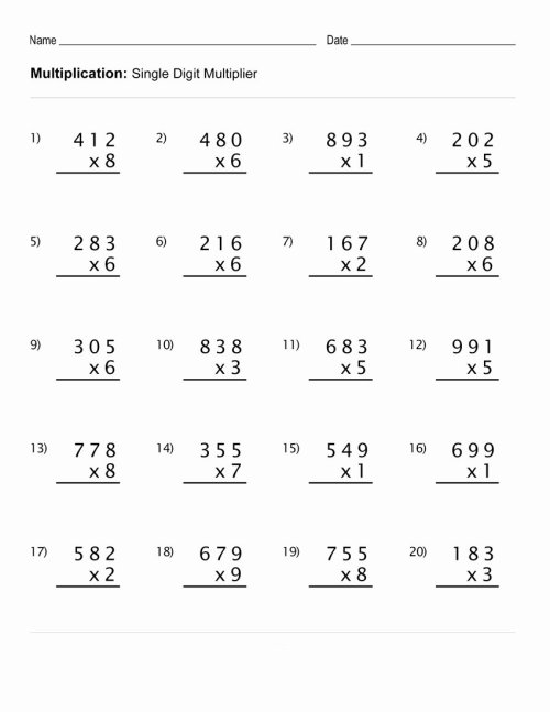 small resolution of Multiplication Worksheets for Grade 4 Best Of Math Worksheet Extraordinary Math  Worksheets Grade 4 – Printable Math Worksheets
