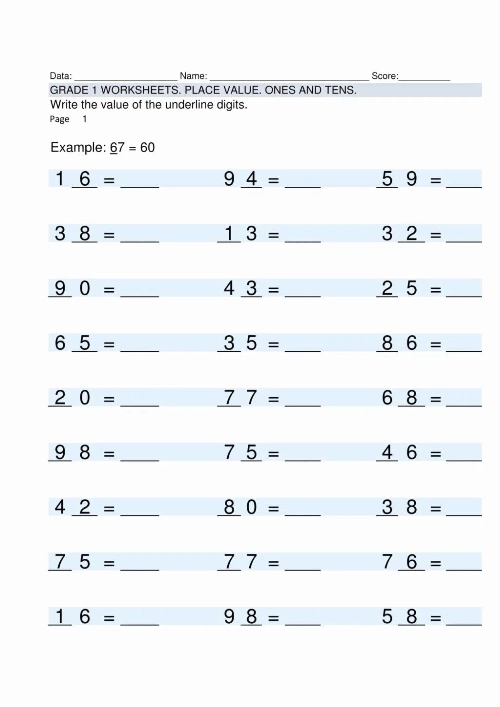 medium resolution of Multiplication Worksheets Grade 1   Printable Math Worksheets
