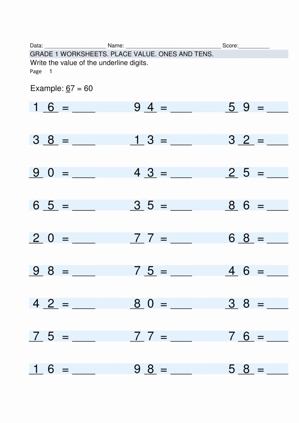 hight resolution of Multiplication Worksheets Grade 1   Printable Math Worksheets