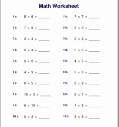 Multiplication Worksheets Grade 1 Awesome Worksheet Free Math Worksheets  First Grade Subtraction – Printable Math Worksheets [ 1035 x 809 Pixel ]