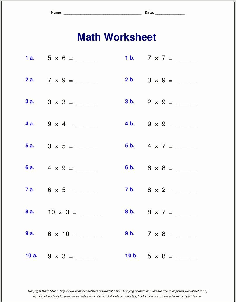 medium resolution of Multiplication Worksheets Grade 1 Awesome Worksheet Free Math Worksheets  First Grade Subtraction – Printable Math Worksheets