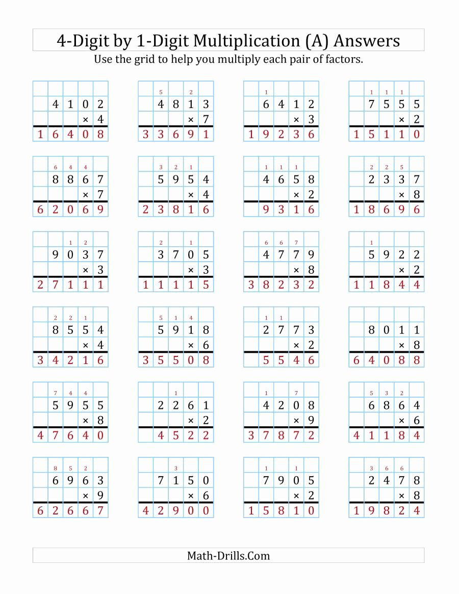 hight resolution of Multiplication Worksheets Grade 4 Math Drills   Printable Math Worksheets