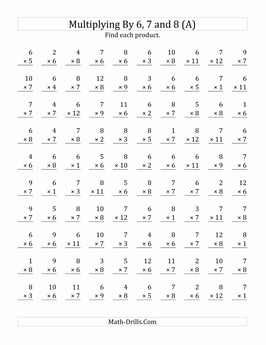 medium resolution of Multiplication Worksheets Grade 7 Awesome Worksheet Worksheet the  Multiplying to by and Math – Printable Math Worksheets