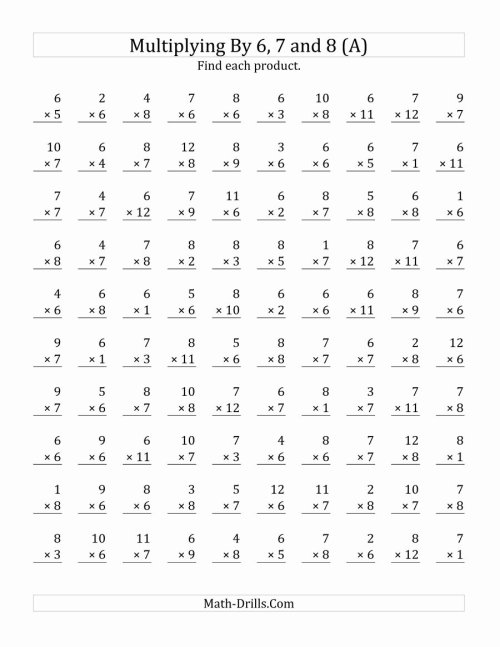small resolution of Multiplication Worksheets Grade 7 Awesome Worksheet Worksheet the  Multiplying to by and Math – Printable Math Worksheets