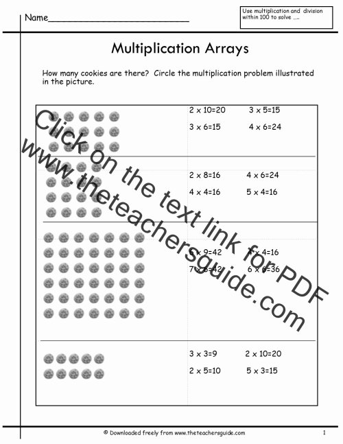 small resolution of Multiplication Worksheets with Arrays top Arrays Worksheets – Printable Math  Worksheets