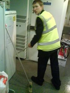 Jonny Blair working on the cross channel ferries in 2009