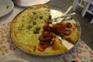 Jonny Blair loved the pizza in Sao Paulo