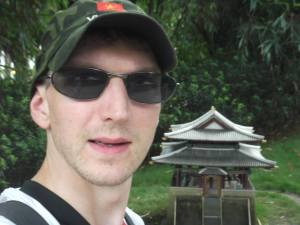 Jonny Blair does Potong Gate in North Korea at window of the world shenzhen