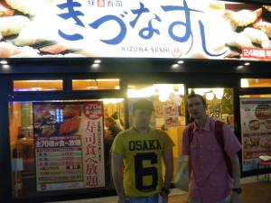 Jonny Blair and Neil Armstrong headed to Tokyo in Japan to try sushi - it wasn't that great says Jonny of Don't Stop Living