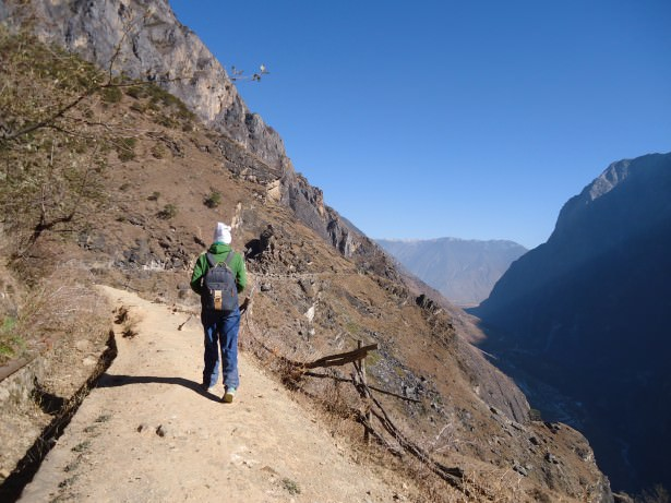 Jonny Blair hiking near Tiger Leaping Gorge in China
