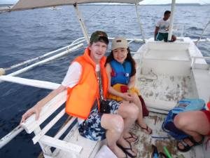 Jonny and Panny dolphin watching in Philippines