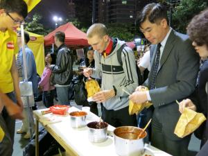Jonny Blair and Friday's Featured Foods try stinky tofu in Hong Kong