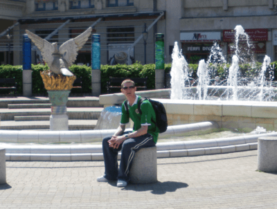 Jonny Blair relaxes in Debrecen in Hungary in 2009