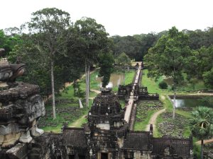 Baphuon Temple view over Angkor Thom Cambodia