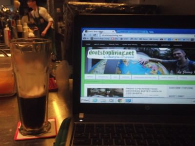 Guinness and travel blogging