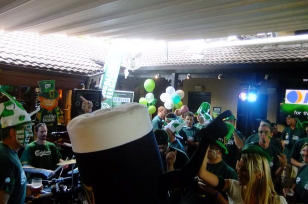 Jonny Blair dressed as a massive Guinness in PJ's Irish Pub Parramatta Australia!