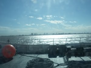 Ferry from Colonia to Buenos Aires great view a lifestyle of travel