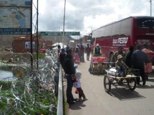 Peru border Desaguadero
